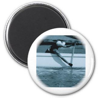 Paddling Action 6 Cm Round Magnet