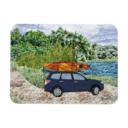 """Paddling Day"" Rectangle Magnet"