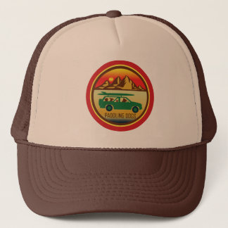Paddling Dogs Vintage Trucker Hat