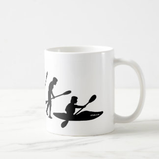 Paddling Evolution (kayak) Basic White Mug