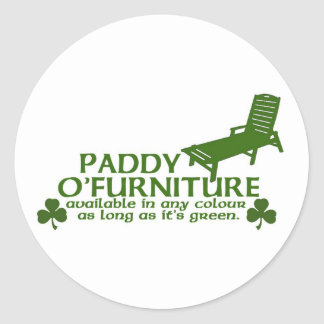 Paddy O Furniture - Funny Irish Design -St Patrick Classic Round Sticker