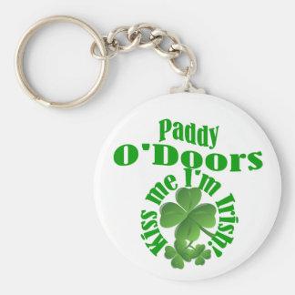 Paddy O'Doors, funny Irish name Basic Round Button Key Ring
