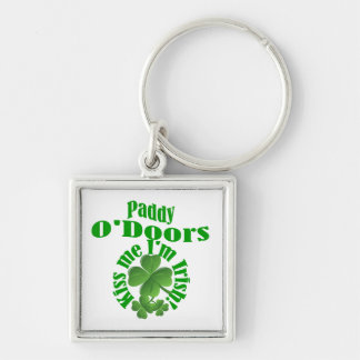Paddy O'Doors, funny Irish name Silver-Colored Square Key Ring