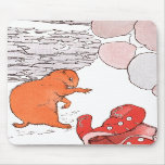 Paddy Paws Finds a Red Coat Mousepad