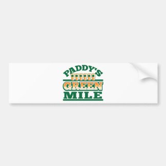 Paddy s GREEN MILE from The Beer Shop Bumper Sticker
