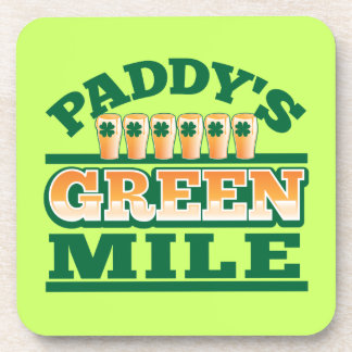 Paddy s GREEN MILE from The Beer Shop Beverage Coaster