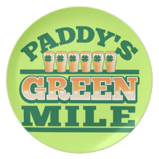Paddy s GREEN MILE from The Beer Shop Party Plate