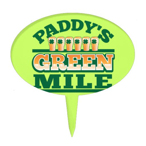 Paddy's GREEN MILE from The Beer Shop Cake Topper