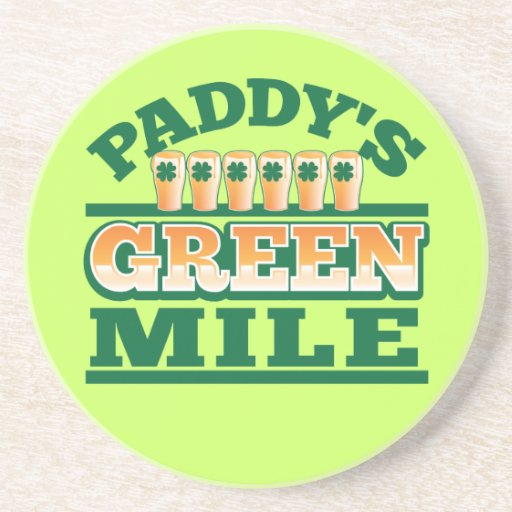 Paddy's GREEN MILE from The Beer Shop Drink Coasters