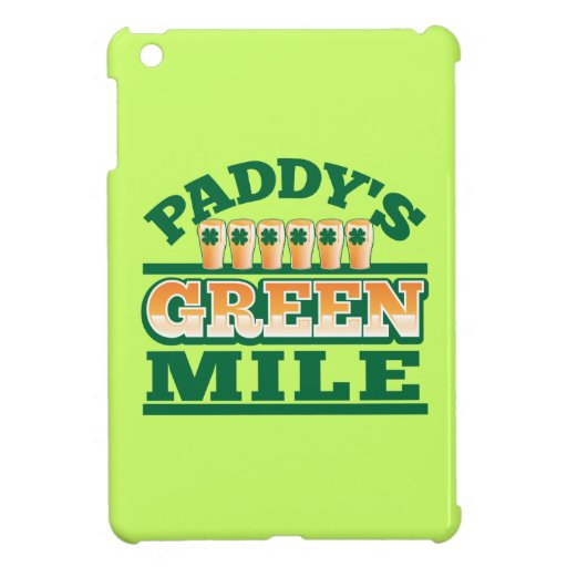 Paddy's GREEN MILE from The Beer Shop iPad Mini Covers