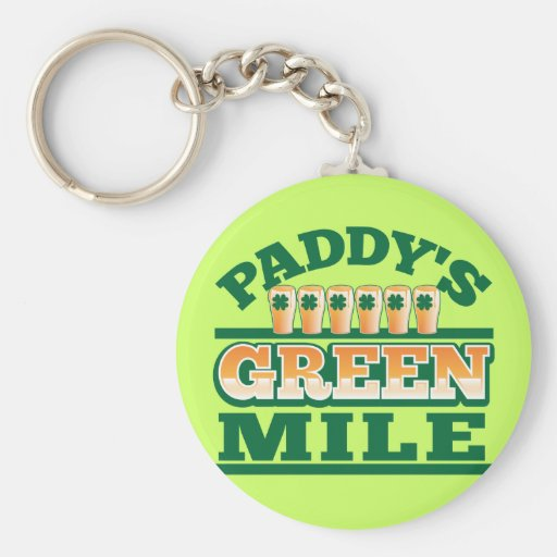 Paddy's GREEN MILE from The Beer Shop Keychain