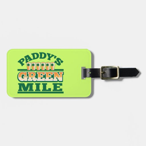 Paddy's GREEN MILE from The Beer Shop Bag Tag