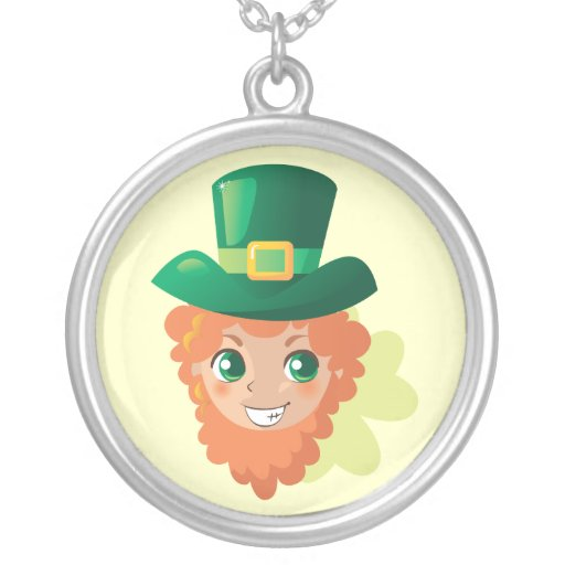 Paddy's Leprechaun Personalized Necklace