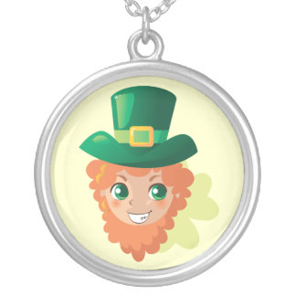 Paddy's Leprechaun Silver Plated Necklace