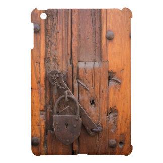 Padlock on wooden door iPad mini covers