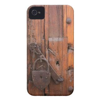 Padlock on wooden door iPhone 4 case