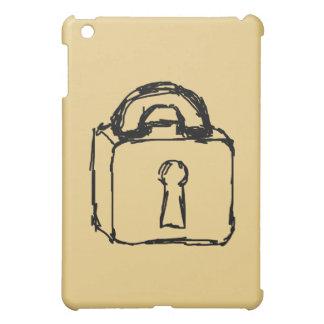 Padlock. Top Secret or Security Icon. iPad Mini Case