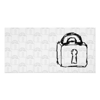 Padlock. Top Secret or Security Icon. Photo Greeting Card