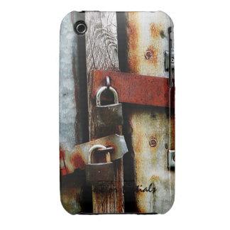 Padlocks and Rusty Metal Bars Case-Mate iPhone 3 Cases