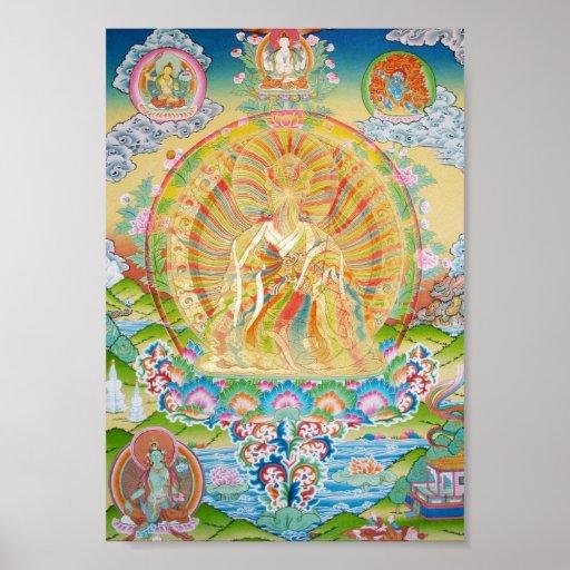 Padmasambhava Rainbow Body Poster