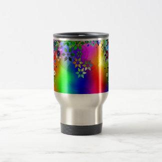 padrão abstrato com estrelas coffee mugs