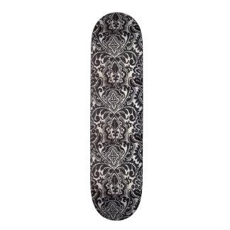 padrão abtrato a preto e branco custom skate board