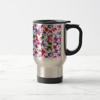 padrão com borboletas coffee mugs