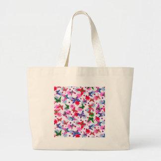 padrão com borboletas canvas bag