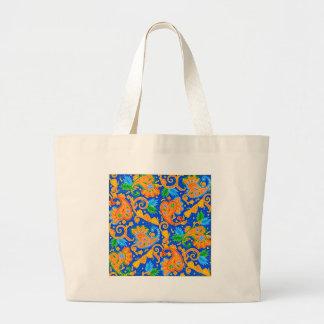 padrão com cornecopias canvas bags