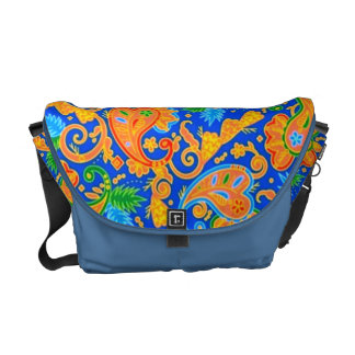 padrão com cornecopias messenger bag