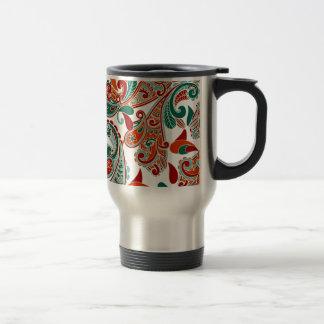 padrão com cornecopias stainless steel travel mug