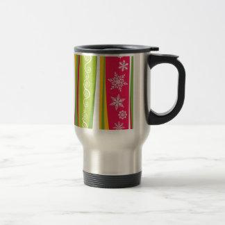 padrão com enfeites de natal mugs