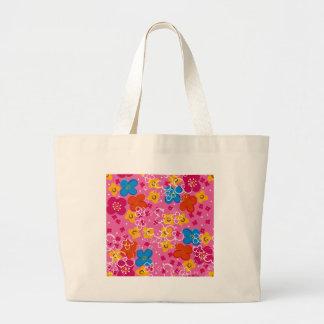 padrão com flores canvas bag