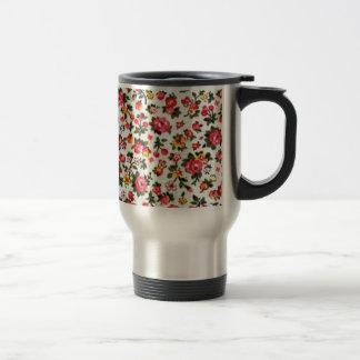 padrão com flores e frutos coffee mug