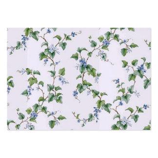 padrão com flores em cores suaves business card template