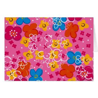 padrão com flores greeting card