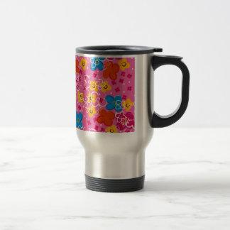 padrão com flores mugs