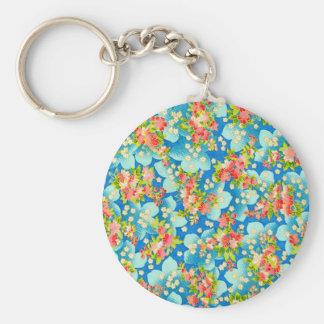 padrão com flores pequenas key chains