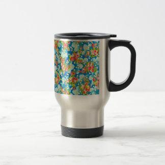 padrão com flores pequenas stainless steel travel mug