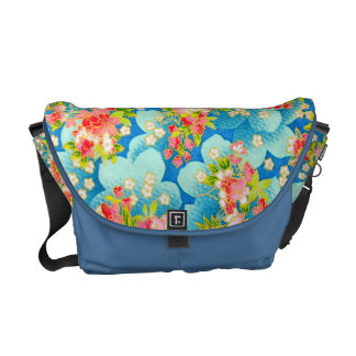 padrão com florinhas pequenas messenger bag