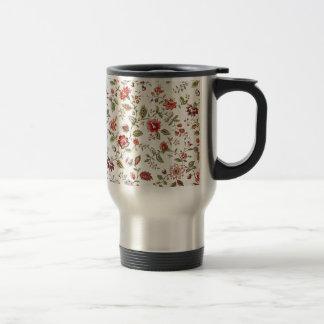 padrão com florinhas vermelhas stainless steel travel mug
