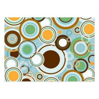 padrão com formas circulares business card template