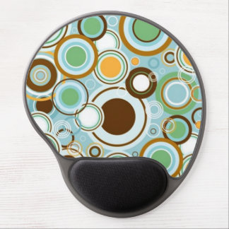 padrão com formas circulares gel mouse mat