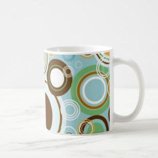padrão com formas circulares coffee mugs