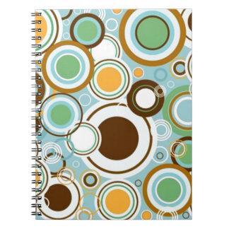 padrão com formas circulares spiral note books