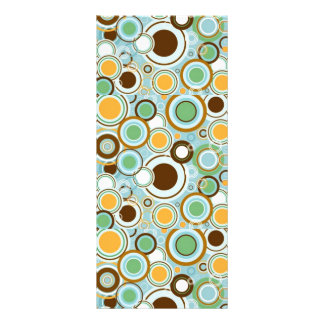 padrão com formas circulares rack card template