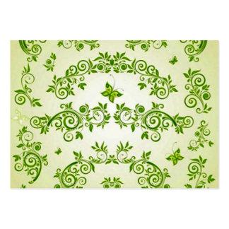 padrão com  formas em caracol verde business card template