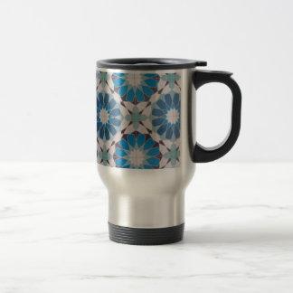 padrão com formas geometricas stainless steel travel mug