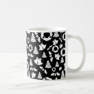 padrão com motivos de natal basic white mug