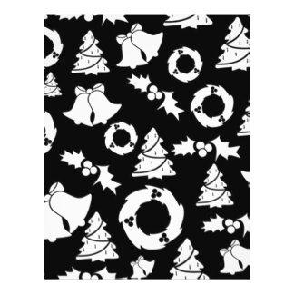 padrão com motivos de natal full color flyer